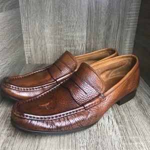Santoni handmade Italian Leather loafers